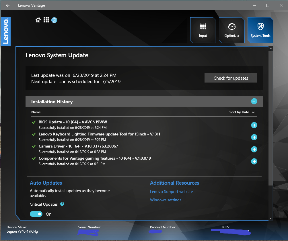 lenovo keyboard lighting firmware update tool for 15 inch